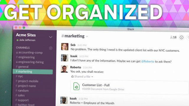 Slack Internal Messaging Tool