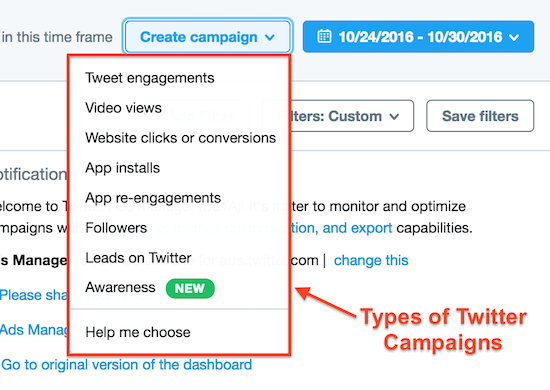 twitter campaigns lead generation